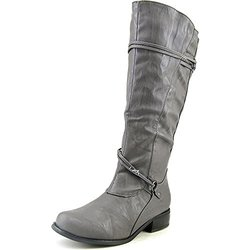 Journee Collection Women's Wide-Calf Knee-High Riding Boots - Grey  7