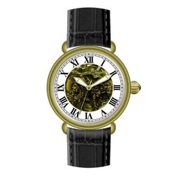 Heritor Automatic Ossibus Men's Watch: Hr1703-gold Case/silver Dial