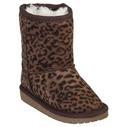 Microfiber Sheepdawg Boots: Leopard/toddler 8-9