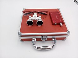 Aphrodite New 3.5x 420mm Surgical Binocular Loupes +Head Light Lamp +Aluminum Box red