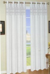 White Natali Faux Silk Panel with Eight Grommets; Elegant Colors. 58 inches wide X 84 inches long; ONE Panel Per Pack