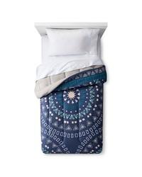 Room Essentials Medallion Comforter - Dark Blue - Size: Twin
