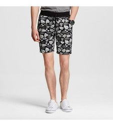Mossimo Supply Men's Knit Shorts Leaf Print - Green Leaf - Size: Small