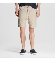Mossimo Men's Zippered Khaki Shorts - Khaki - Size: Large