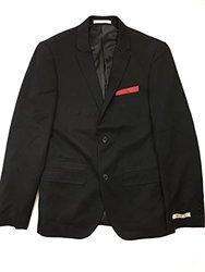 Edge By Wd-ny Men's Reversible Mixed-Media Blazer - Black - Size: Medium