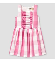 Oshkosh Toddler Girls' Buffalo Plaid Dress - Pink - Size: 2T