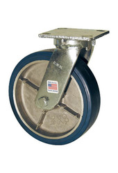 "RWM Casters 47 Series 9-1/2"" H 8"" Urethane on Al Wheel (47-UAB-0821-S)"