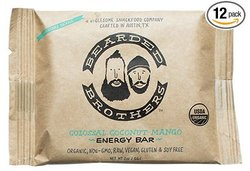 Bearded Brothers Colossal Coconut Mango Energy Bar - 12 Pack