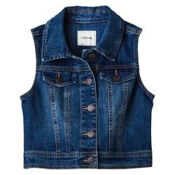 Cherokee Girls' Denim Vest - Apollo Blue - Size: Small