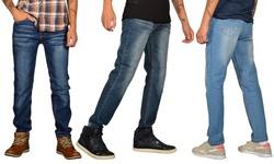 Jeans Republic Men's Skinny-Fit Jeans - Dark Blue/Blue - Size: 36 x 32