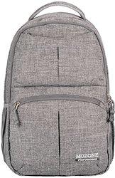 Mozone Large Lightweight Water Resistant College School Laptop Backpack Travel Bag (grey)