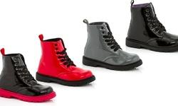 Coco Jumbo Girls Combat Boots: Black/ 2