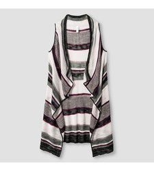 Xhilaration Girl's Striped Sweater Vest - Purple - Size: Medium