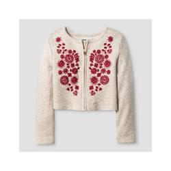 Oshkosh Girl's French Terry Bomber Jacket - Oatmeal - Size: 6