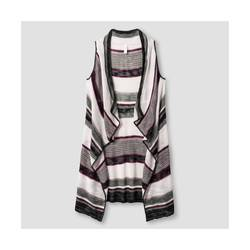Xhilaration Women's Striped Sweater Vest - Multi - Size: X-Large