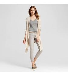Mossimo Women's Long Sleeve Waterfall Cardigan - Cream - Size: XL