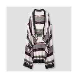 Xhilaration Women's Striped Sweater Vest - Multi - Size: Large