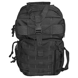 Every Day Carry Tactical Hydration Pack Ready Backpack with MOLLE & Chest Strap - Black
