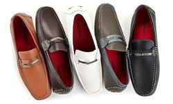 Franco Vanucci Men's Driver Shoes - Tan - Size: 13