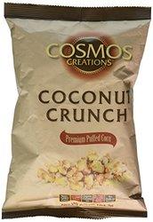 Cosmos Creations Puffed Corn Coconut Crunch - Case of 12 - 6.5 oz Bag Each