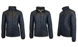 Spire by Galaxy Men's Lightweight Puffer Jacket - Black - Size: XXL