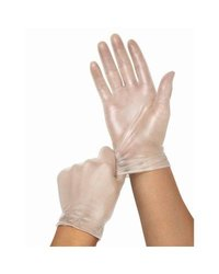 Medline Cedar Vinyl Synthetic Exam Gloves - Pack of 1500 - Clear - Size: S