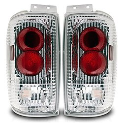 Winjet WJ20-0018-01 Altezza Vehicle Tail Lights - Pack of 2 - Chrome/Clear