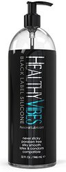 Silicone Based Personal Lubricant By Healthy Vibes, 32 Fl Oz, Black Label