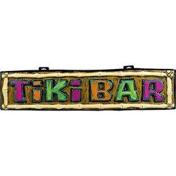 "Amscan Hawaiian Summer Luau Party Tiki Bar Form Hanging Sign Decoration, Multi Color, 43.25 X 10.25"""