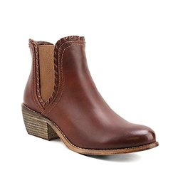Om 'lorimer' Whip Stitched Chelsea Boots: Cognac/10