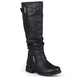 Journee Collection Women's Wide-Calf Knee-High Boots - Black  8WC