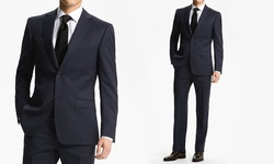 Fiorelli Men's Classic-Fit 2-piece Suit - Navy - Size: 52L x 46W