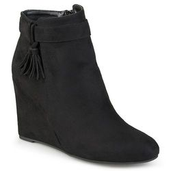 Journee Collection Gia Women's Wedge Ankle Boots - Black - Size: 8.5
