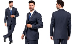 DeZillino Men's 2-piece Suit - Navy - Size: 38R