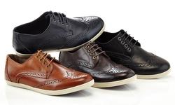 Franco Vanucci Men's Casual Lace-up Shoes: Black/9