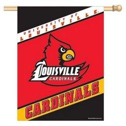 """WinCraft 27x37"""" Vertical Flag - Louisville Cardinals"""