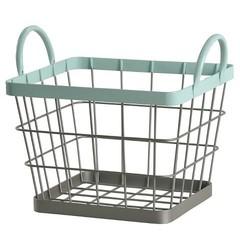 Pillowfort Wire Milk Crate - Aqua - Size: Small