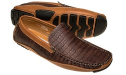 Quentin Ashford Casual Loafers - Brown/Tan Alligator - Size: 10