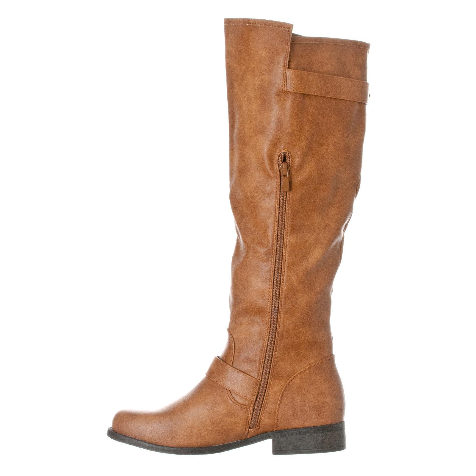 1cd654f11e0 Riverberry Women s  Mia  Knee-High Riding Boots - Tan - Size  7.5 ...