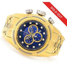 Invicta Reserve Men's Bolt Zeus Swiss Quartz Chrono Mop Dial Bracelet Watch Goldtone / Blue Men's