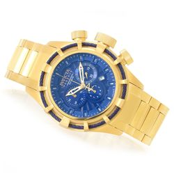 Invicta Men's Reserve 50mm Bolt Quartz Bracelet Watch - Goldtone/Blue