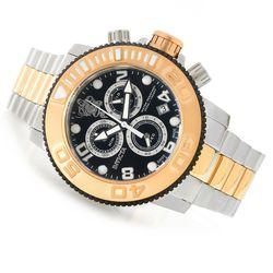 Men's 50mm Swiss Made Quartz Chronograph Stainless Steel Watch - Rosetone