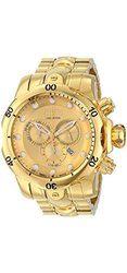 Invicta Men's 52mm Venom Swiss Made Quartz Stainless Steel Bracelet Watch