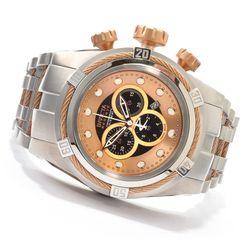 Invicta Reserve Men's Bolt Zeus Swiss Chronograph Bracelet Watch Rosetone Men's