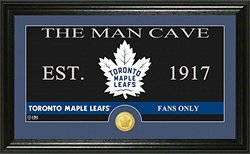 The Man Cave Panoramic Bronze Coin Photo Mint: Toronto Maple Leafs