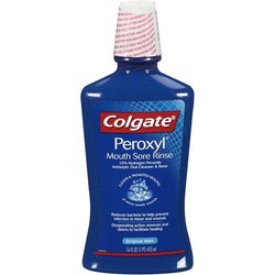 Colgate Peroxyl Antiseptic Oral Cleanser, Refreshing Original - 16 Oz (pack Of 2)