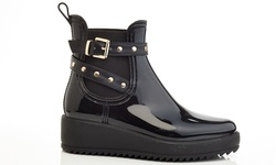 Climate-200 Women'swrap Around Platform Rain Boots - Black - Size: 6