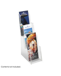 Safco Products Acrylic 3 Pocket Pamphlet Display (5638CL)