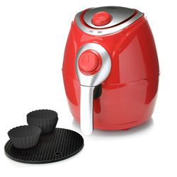 Cook's Companion 1200w Manual Air Fryer with Silicone Baking Cups