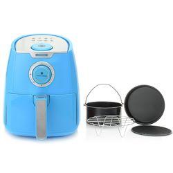 Paula Deen 3.5 qt Ceramic Air Fryer with 4 Pcs Accessory Set - Orchid Blue